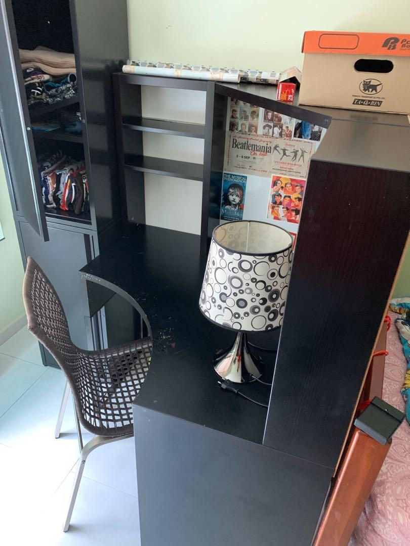 Ikea study table second hand, Furniture, Others on Carousell