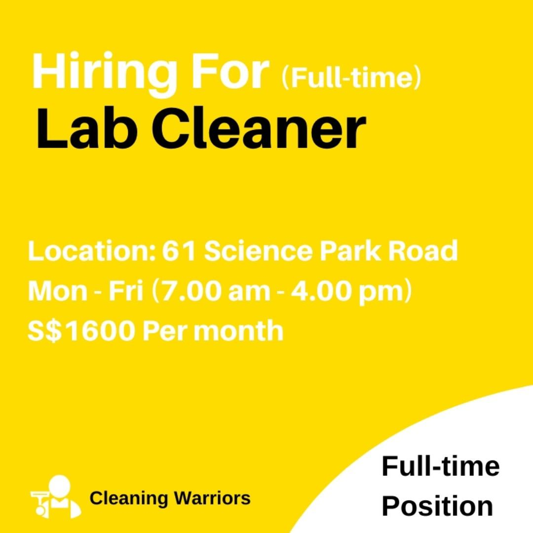 Lab Cleaner  ($1600/ 5 days)