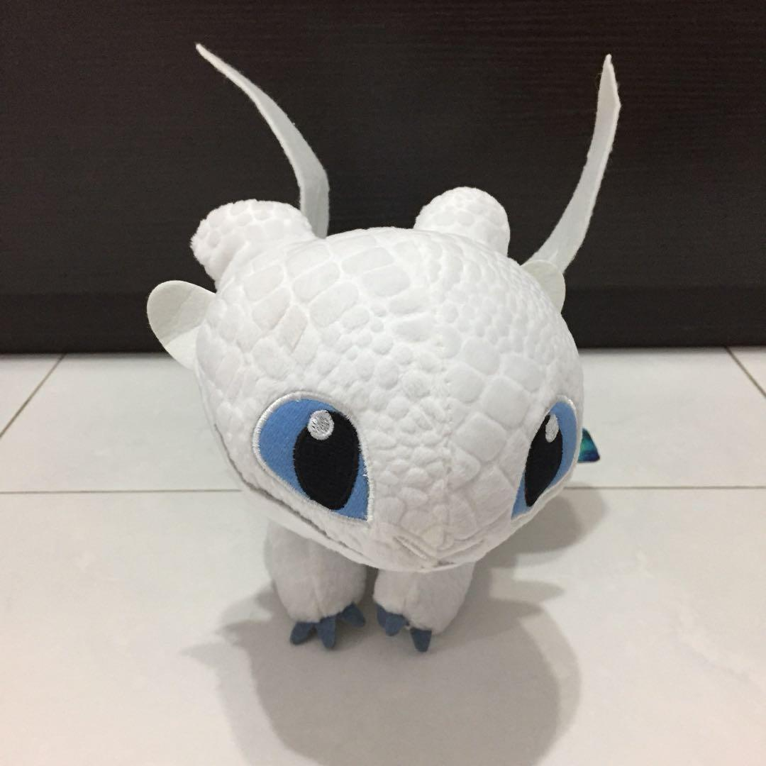 Light Fury Plush Toy How to Train Your Dragon