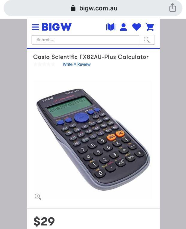 SCIENTIFIC CALCULATORS (CASIO fx-82AU PLUS) •NESA APPROVED•
