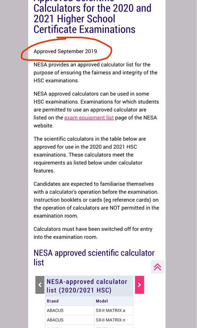 NESA Approved Scientific Calculator •CASIO fx-82AU PLUS II•( 6 Available)