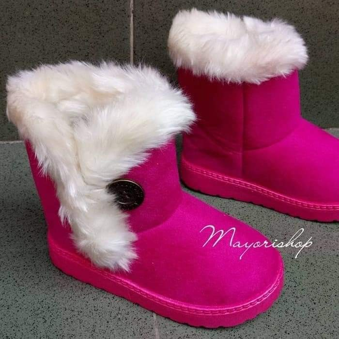 NEW Kids Winter Boots WB-50 Hotpink Pink Fuschia Import Size 22,27,28