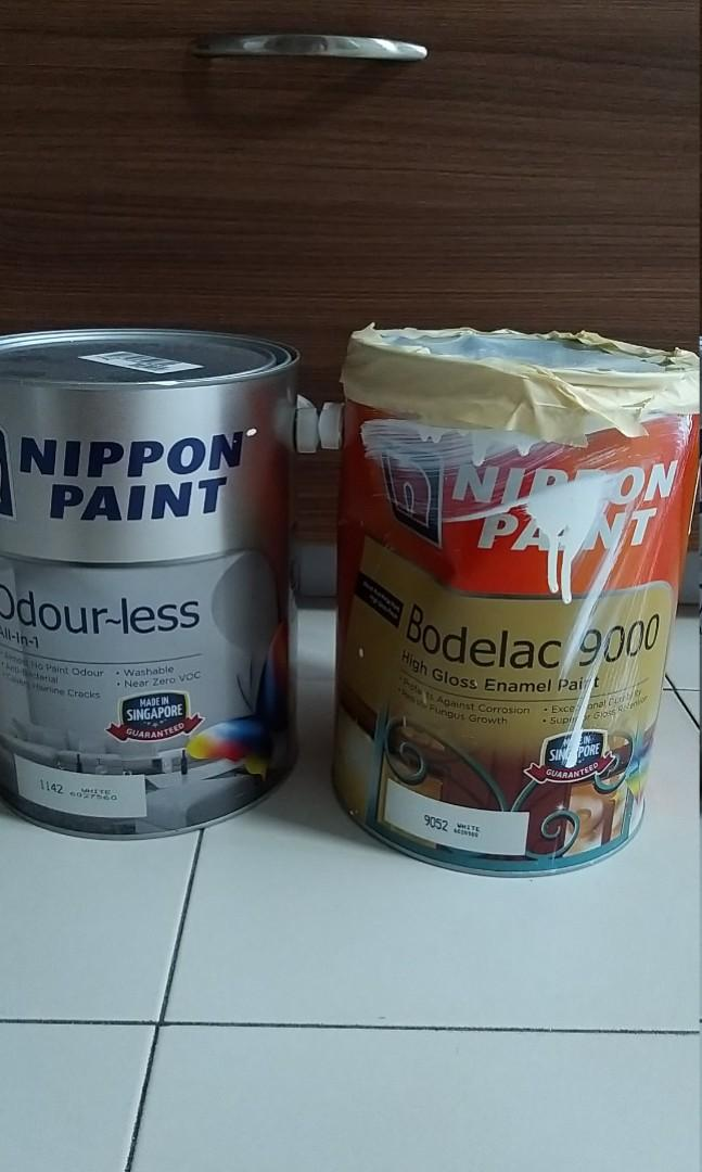 Nippon Paint brand new (sold). Borderlac available with 70% left in can at only $25