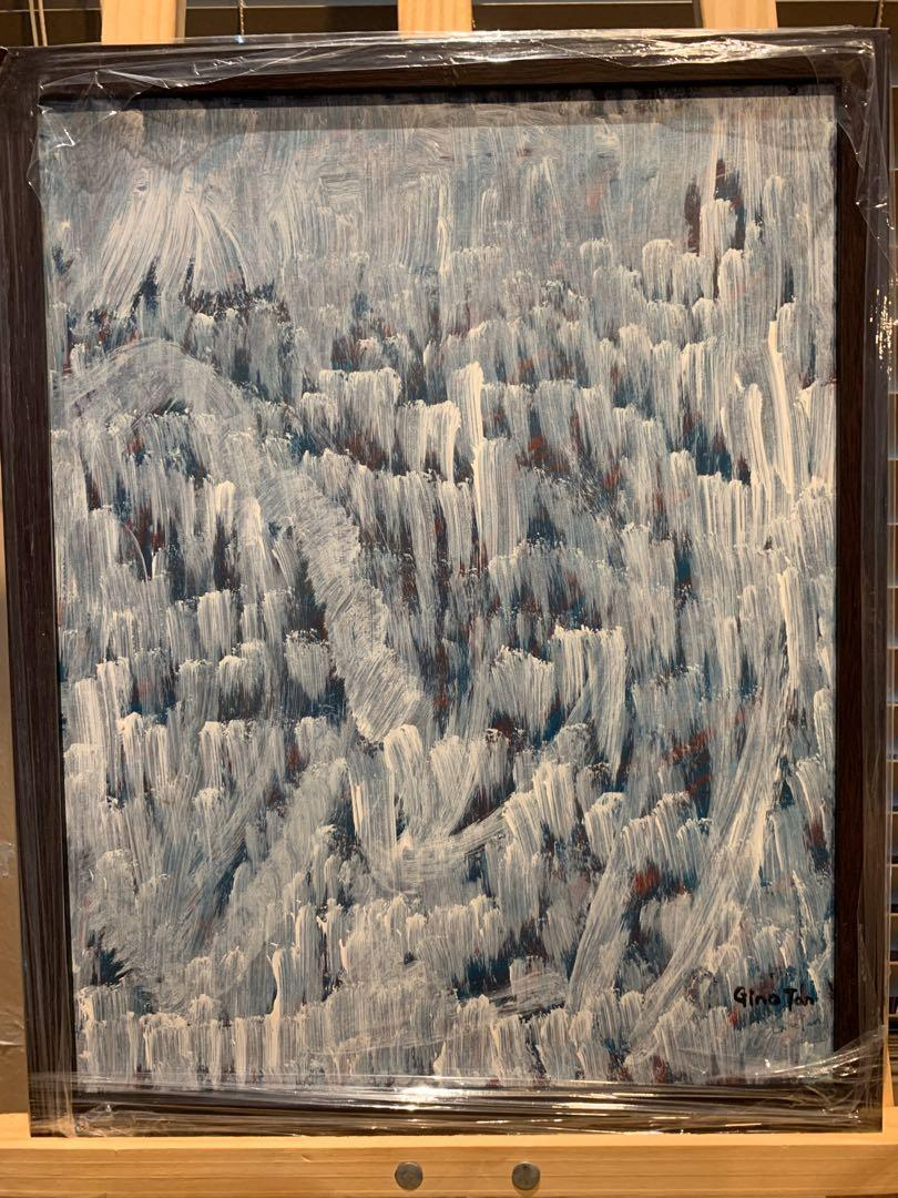 "Original Art Acrylic Painting ""The Prayers"" With Frame"