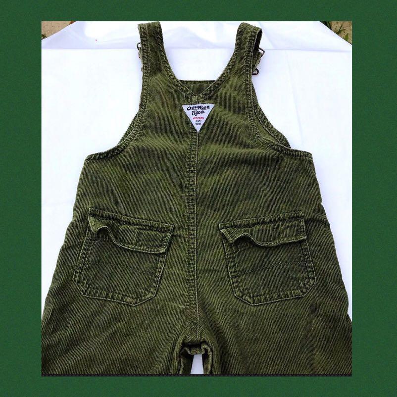 OshKosh B'Gosh Corduroy Bib Overalls Vintage 18 Months Size