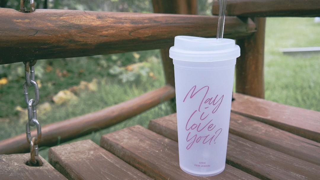 Park Ji Hoon Korean Fanmade Reusable Cup 'May I Love You?'