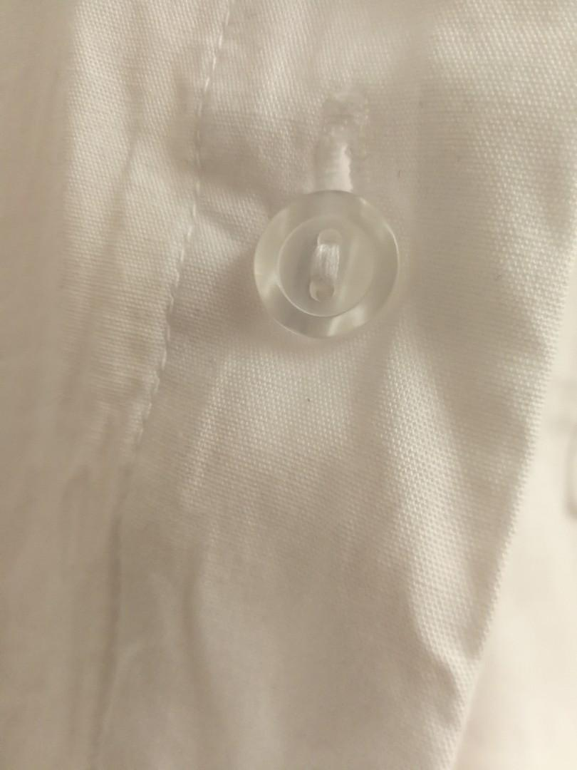 SIRENS REVAMPED WHITE DRESS SHIRT WITH BUCKLED SLEEVES