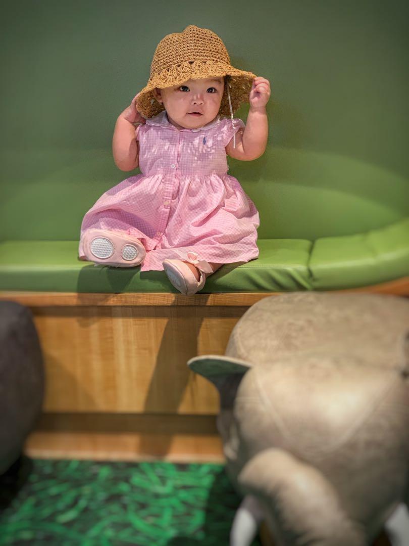 RL粉格洋裝(80cm)