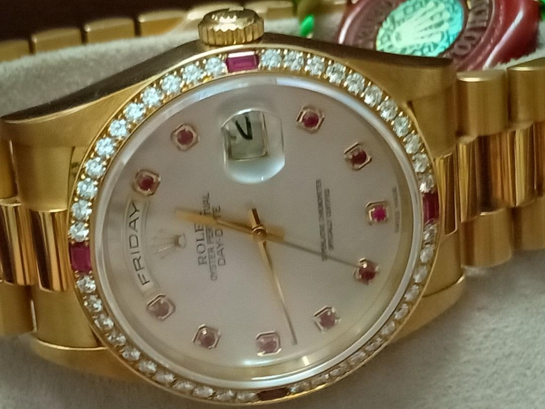 Rolex 18378 18K Gold Day-Date president - New with Tags 100% Original & Authentic
