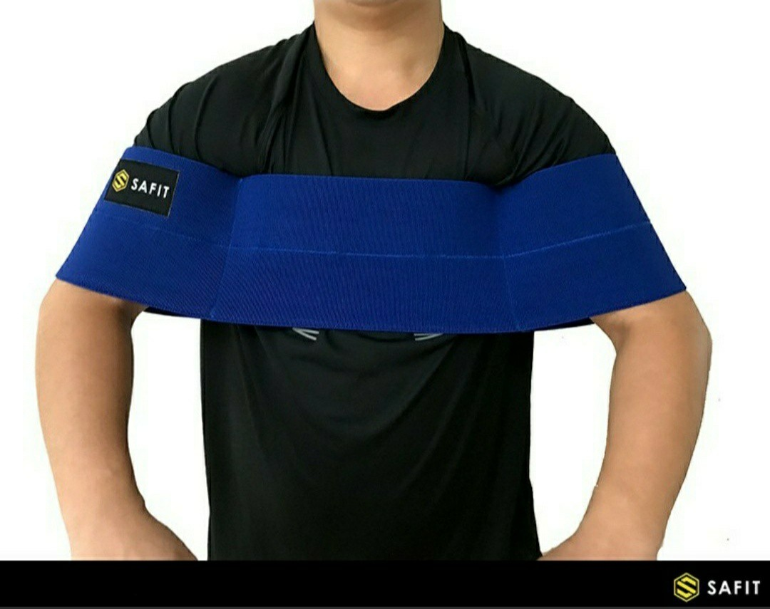 Safit Slingshot Bench Press Arm Sleeve Elastic Band Blue Sports Other On Carousell