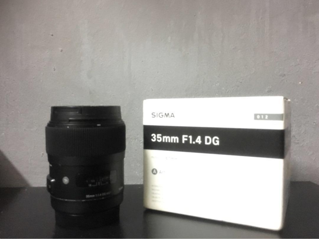 Sigma Art 35mm f1.4 Canon