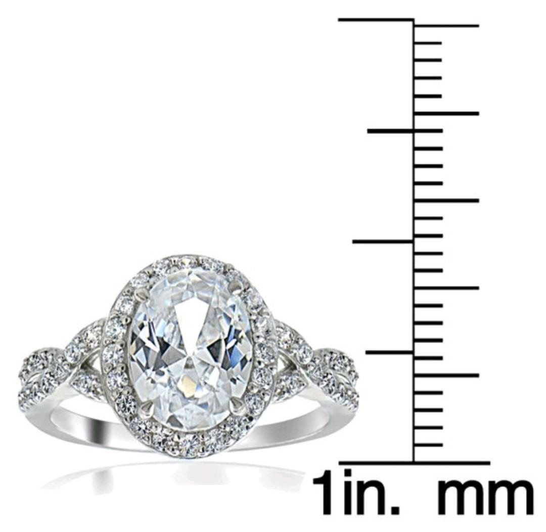 Sterling Silver Cubic Zirconia Bridal Style Fashion Ring
