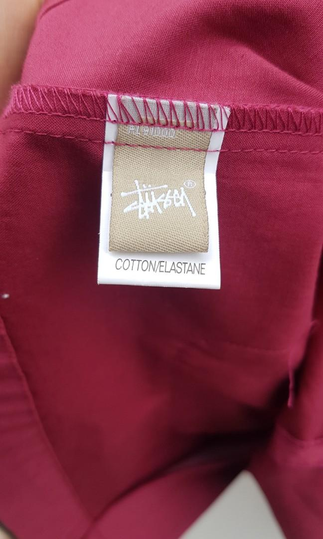 Stussy Red Cotton Duffel Jacket Size 12 Wooden Toggles