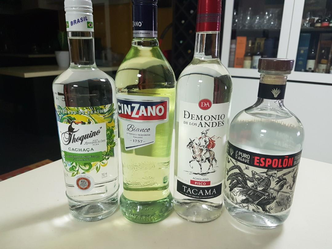 Alcohol Sale! Tequila/Pisco/Cachaca/Vermouth - Unopened