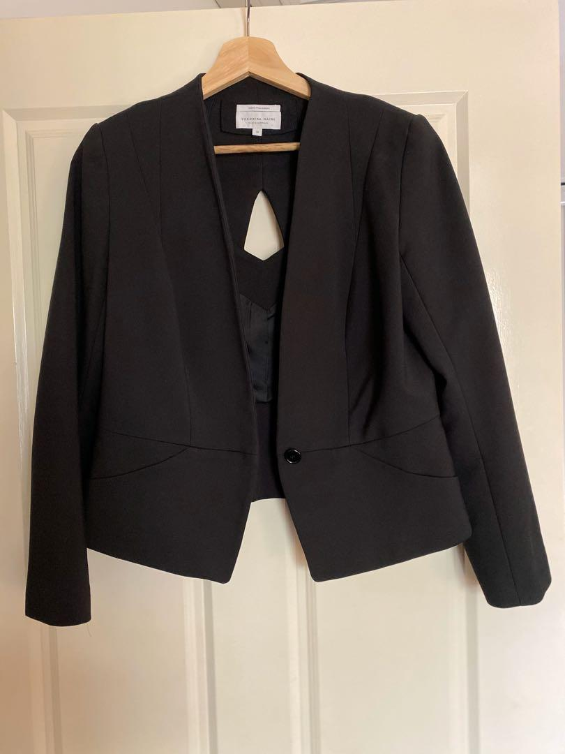 Veronica Maine suit jacket with back detail - size 14
