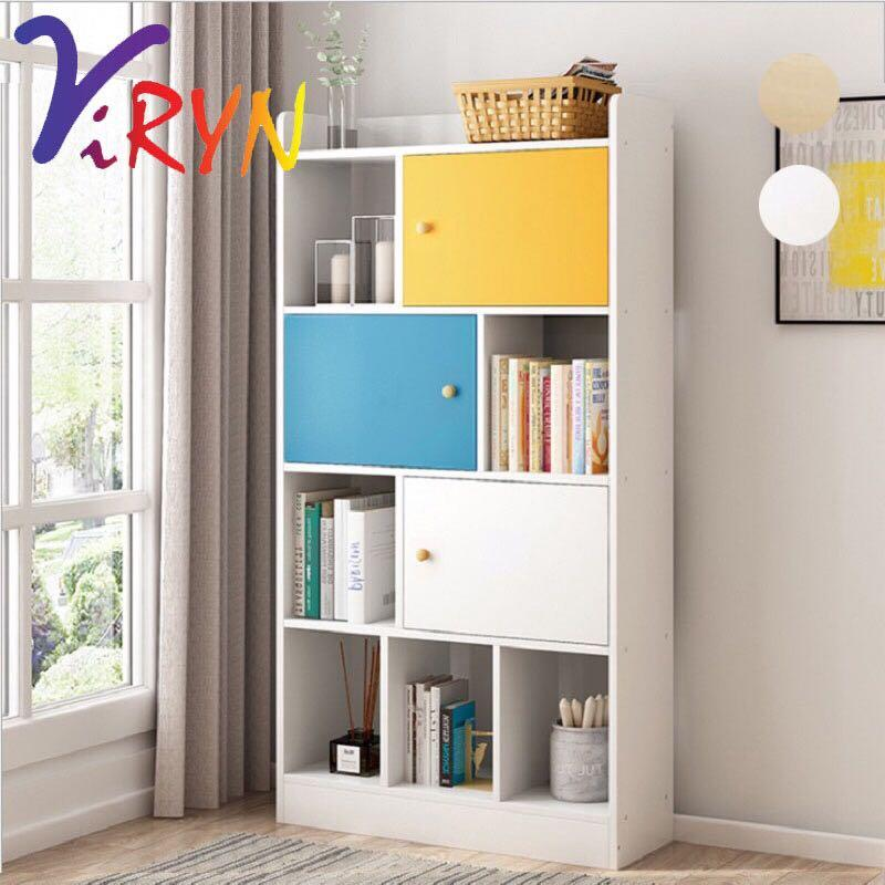 Viryn Simple Modern Bookshelf Bedroom Bookcase Living Room Home Furniture Furniture On Carousell