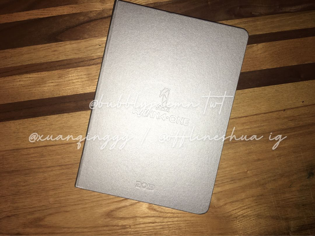 wanna one official 2019 seasons greeting note book