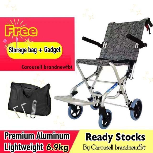 Wheelchair foldable portable lightweight aluminium 6.9kg