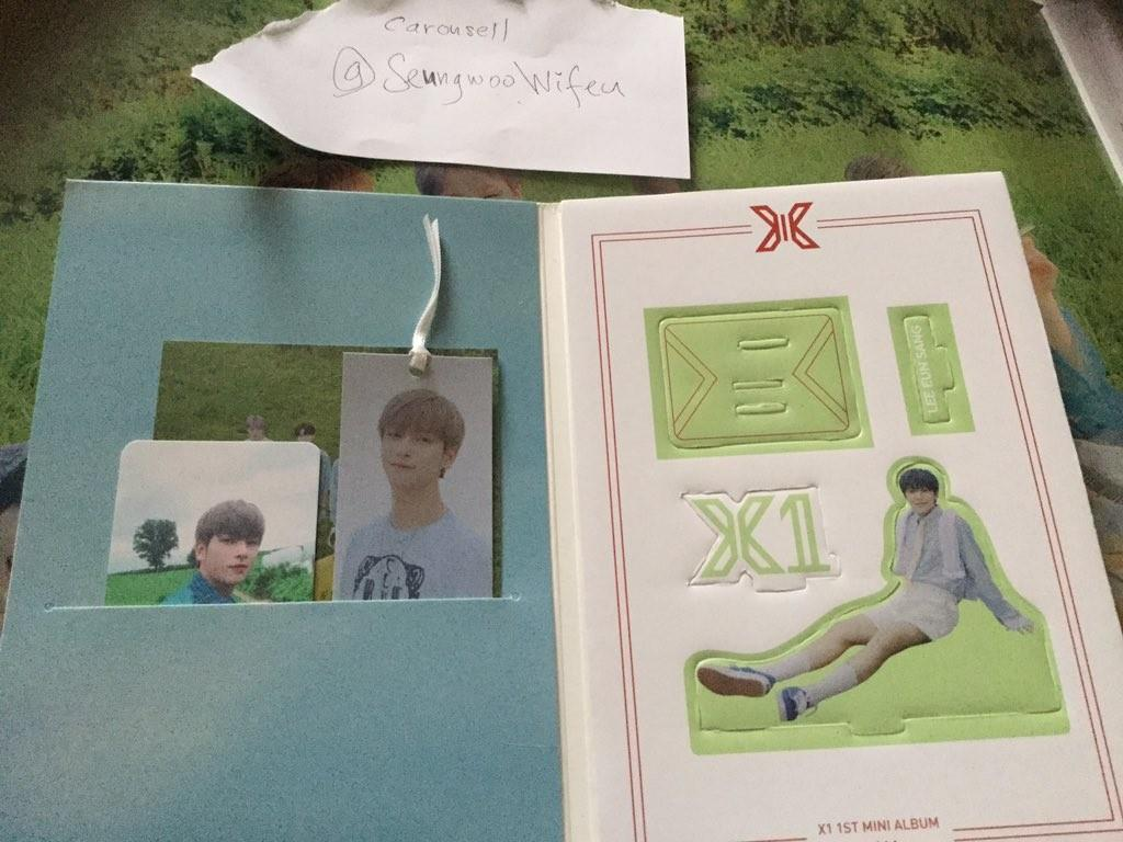 X1 Hangyul Ar photocard and bookmark with eunsang standee full set unsealed bisang ver quantum leap album