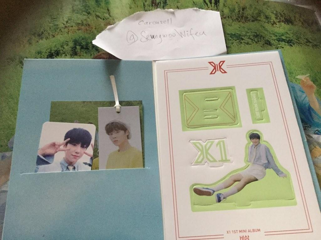 X1 lee eunsang member set AR photocard Standee with wooseok bookmark bisang unsealed quantum leap album