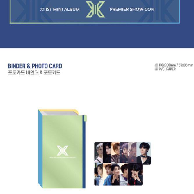 X1 PREMIER SHOW-CON OFFICIAL GOODS - BINDER & PHOTOCARD SET