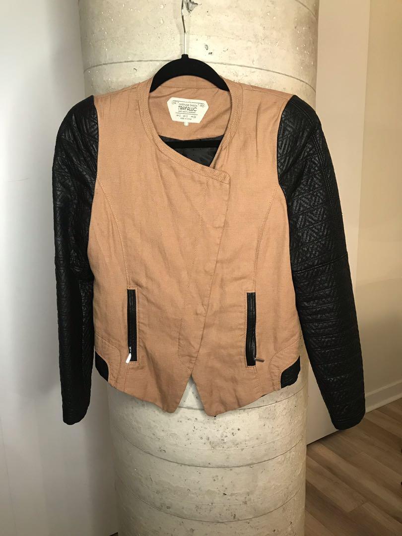 Zara Canvas Jacket Size Small