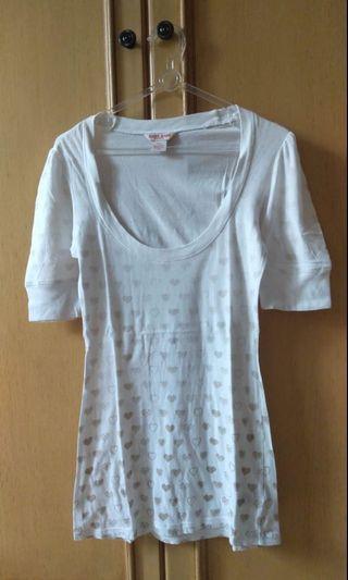 Guess Asli - White Top Shirt - Kaos Putih