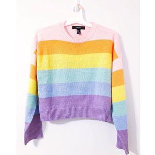 Forever 21 Pastel Rainbow Sweater