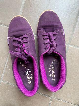 Sepatu Kets Purple Ando