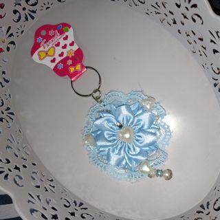 Gantungan kunci keychain handmade korea japan renda shabby lolita style 2b