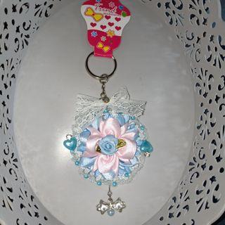 Gantungan kunci keychain handmade korea japan renda shabby lolita style 1