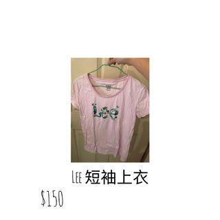 LEE 短袖上衣 (粉色)