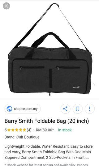 Barry Smith foldable luggage bag 20inch
