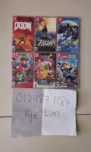 Nintendo switch games zelda doom bayonetta2 super mario oddysey pokken dx lego city undercover