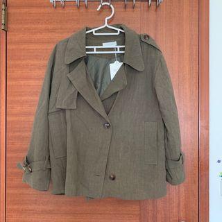 🇰🇷韓國購入.軍綠大衣.外套