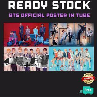 OFFICIAL BTS POSTER + FREE TUBE