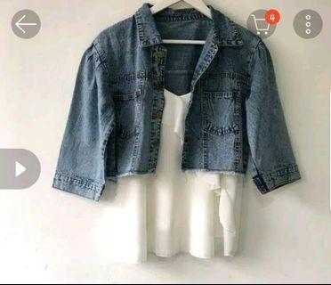 Jaket Jeans crop keren