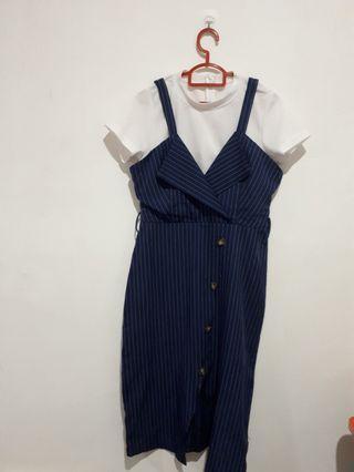 Strips working dress