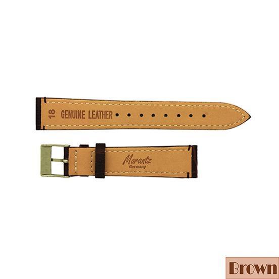 18mm Morantz Germany Genuine Leather Croc's Skin Pattern Fine Stitches Watch Band