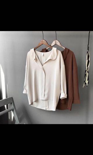 韓國隨行風格V領襯衫