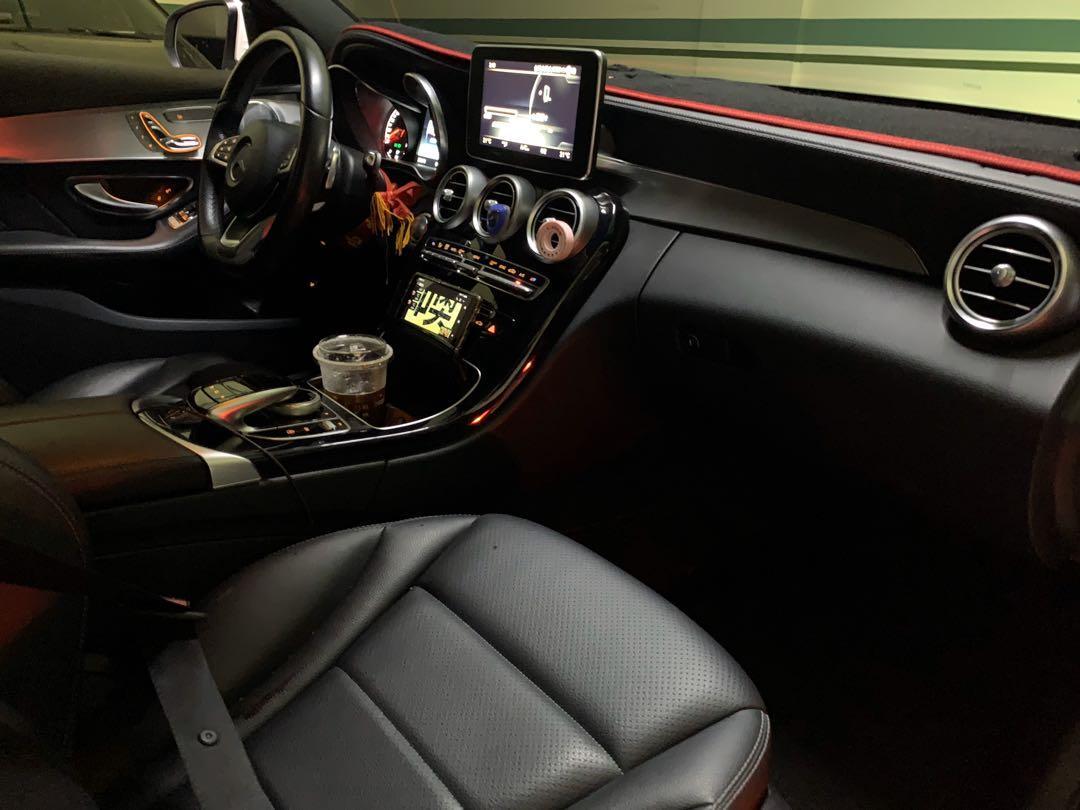 車主託售 實價🚗2014/15年式BENZ C300 AMG版 雙魚眼 全景 l key免持鑰匙 電尾門 抬頭顯示 盲點 柏林之音 四傳 10吋大螢幕 倒車顯影 全滿配