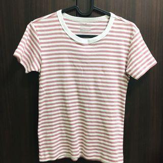 無印良品 ❤️ 日本帶回 條紋棉質上衣 短袖 短t t恤 文青風