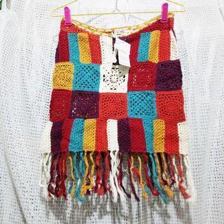 原價1980,售200 專櫃 棉針織 造型短裙 有標籤