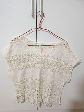 Offwhite Lace Top