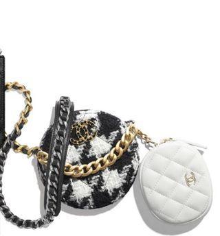 Chanel 千鳥紋雙包,9.8新