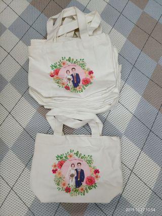 婚禮小物 質感帆布袋11個