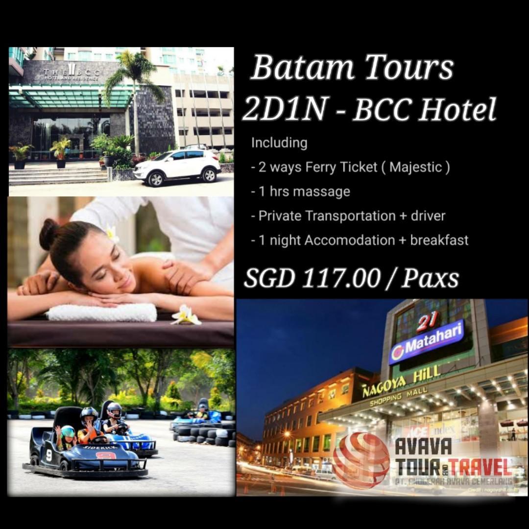 2D1N Batam BCC HOTEL Private Tours
