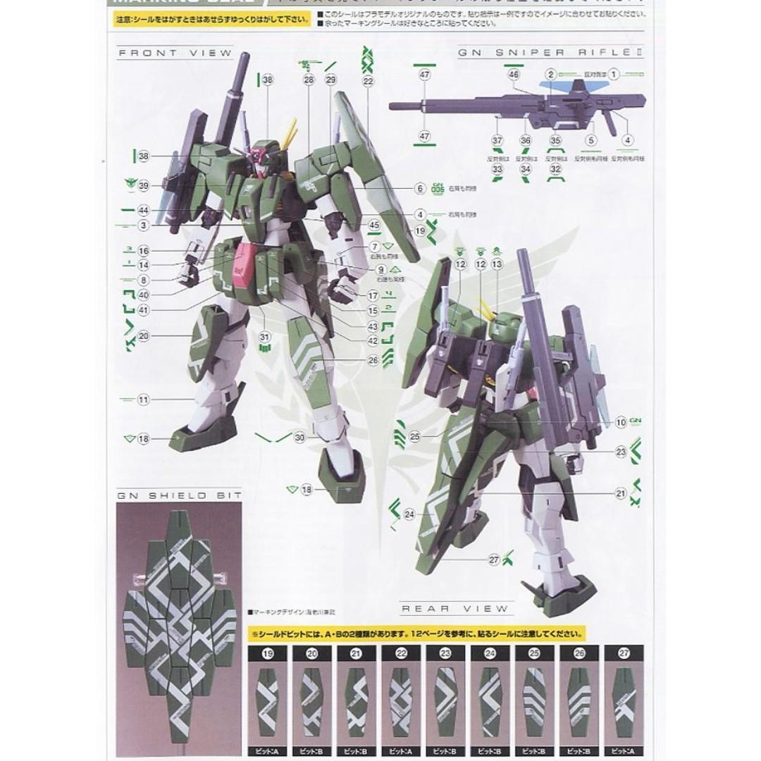 萬代 BANDAI 鋼彈00 HG 1/100 CHERUDIM 智天使 設計師配色