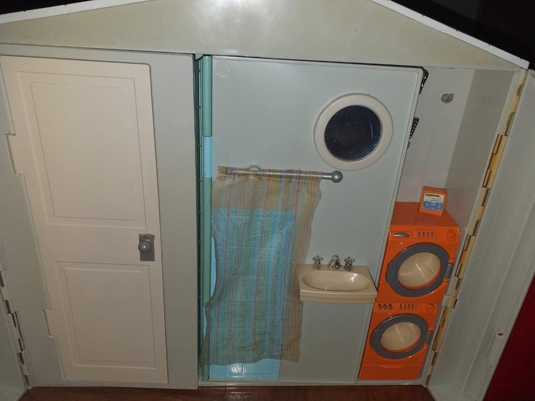 Barbie doll kitchen and toilet house