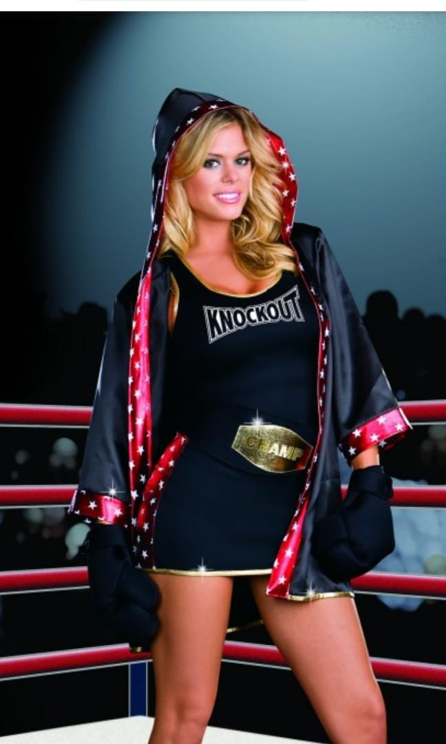 Boxer girl outfit.  Halloween costume. BOXING. Dream girl knock out.